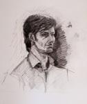 """Samuel"", pencil study, 30x42cm."