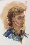 """Samuel: Study in oils"", oil on canvas, 10x10 cm."