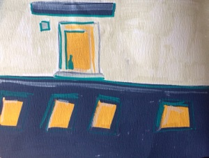 Sketchbook: Windows in the Courtyard, paint marker on paper, Charlie Kirkham.