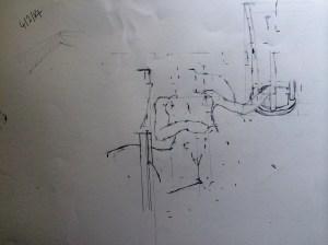 Sight Sized Drawing: pencil on 42x30cm paper, Charlie Kirkham.