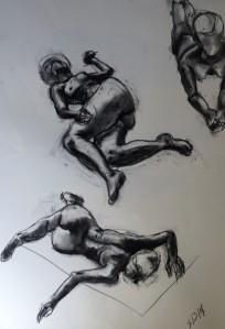 """Rosalie Sketch"", charcoal on paper, 30x42cm, Charlie Kirkham."