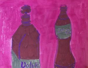 """Sketchbook Page"", paint marker on paper, 7x9"", Charlie Kirkham."