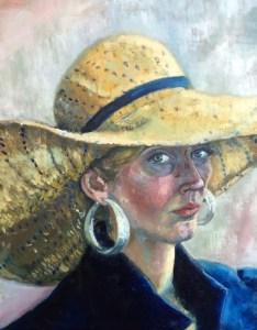 """Self-Portrait 2014"", part of a diptych. Oil on canvas, 16x20"", Charlie Kirkham 2014."