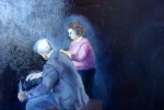 """""""The Conversation"""", oil on canvas, 16x20"""", 2014."""