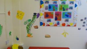 """""""Rhymes Nursery: Mural detail"""", Charlie Kirkham 2013."""