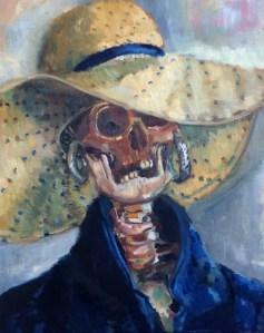 """Self-Portrait in 2114"", oil on canvas, 16x20"", Charlie Kirkham 2014."