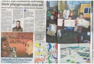 Barking & Dagenham Post, clipping about Open Space UK's My School Playground Project. December 2014.