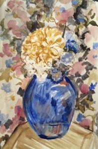 "Watercolour study for ""Flowers on Flowers"", 21x27 cm, Charlie Kirkham 2014."