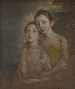 """Gainsborough, """"The Artists Daughters With a Cat"""", 75.6 x 62.9 cm, oil on canvas, National Gallery, UK."""