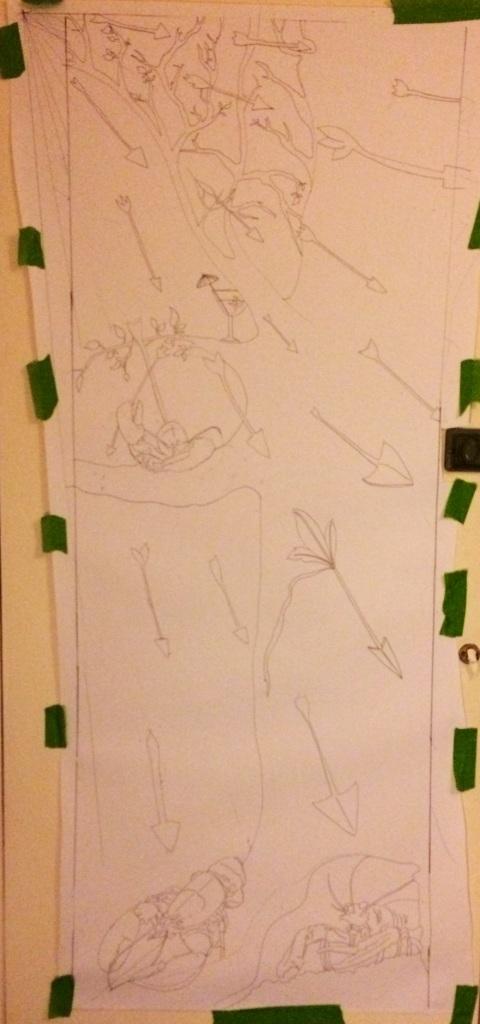 Beginning my Saint Sebastian Tree drawing