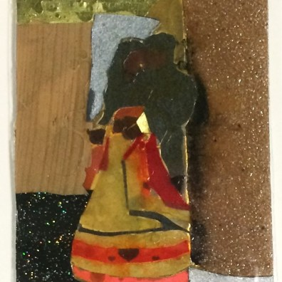 """Wedding Dance"", collage on paper, 6x4 (image) 9x7"" (framed), Charlie Kirkham."