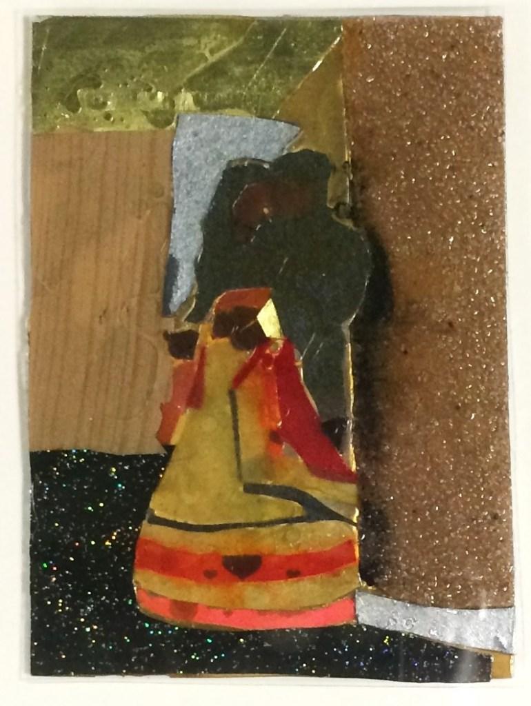 """Wedding Dance"", collage on paper, 6x4 (image) 9x7"" (framed), Charlie Kirkham."