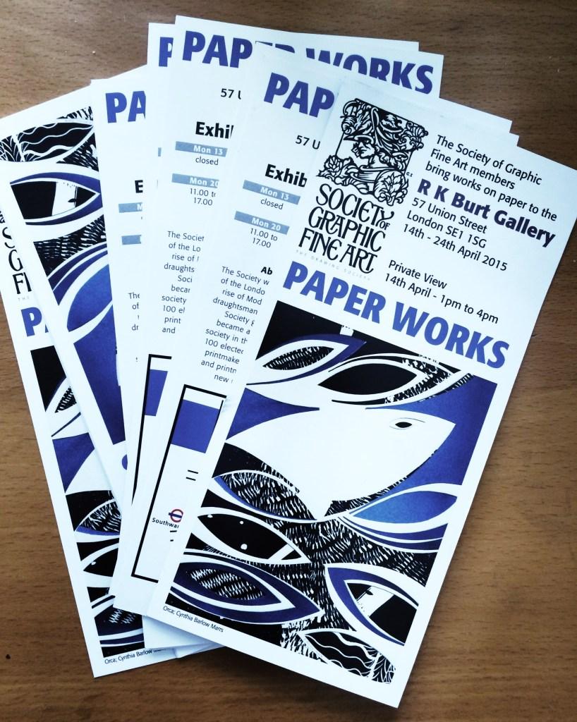 """""""Paperworks"""", 14-24 ApRK Burt Gallery 2015."""