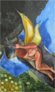"""Lucy's Dream"", oil on canvas, 76 x 122Cm, Charlie Kirkham 2014."