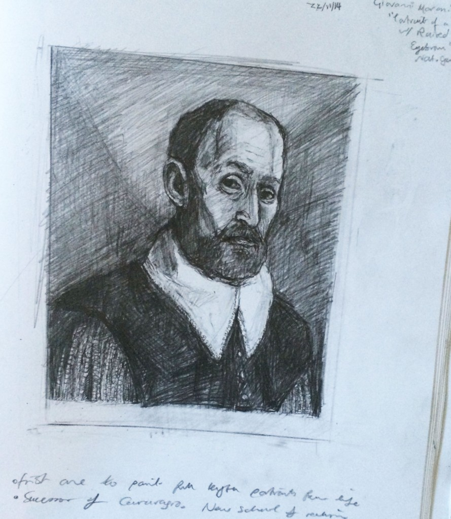 """After Moroni """"Portrait of A Man with Raised Eyebrows"""""""