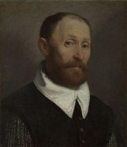 "Giovanni Battista Moroni ""Portrait of a Man with Raised Eyebrows"""