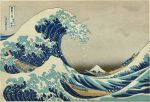 The Great Wave off Kanagawa, Hokusai's most famous print, the first in the series 36 Views of Mount Fuji