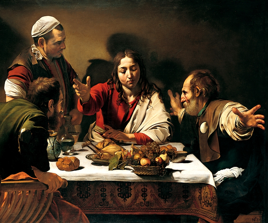 "Caravaggio ""Supper at Emmaus"" 1601"