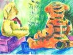 """Teddy Bears' Picnic"", coloured pencil on paper, 23x29cm, Charlie Kirkham 2016"